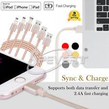 1M 2M 3M Nylon USB Ladekabel Datenkabel Cable für iPhone 8 7 6 6S 5 5S plus