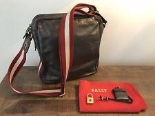 Bally Authentique En Cuir Marron Ordinateur portable Messenger sac d'épaule pour homme RRP £ 450.00