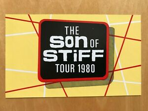 1980 Stiff Records unused promotional sticker - 'The son of stiff tour 1980'