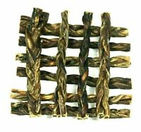 6-Inch Braided Pork Pizzle Pig Bully Sticks (20 Pack) for Dogs