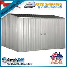 ABSCO PREMIER GARDEN SHED 3x3 ZINCALUME DOUBLE DOOR GABLE 3m x 3m 30YR WARRANTY