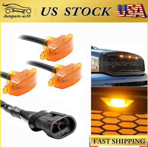 3x Amber Lens 12 LED Grille Lights Universal Raptor Style for Toyota Ford Truck