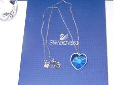 "GENUINE Swan Signed SWAROVSKI ""Reverie"" Aquamarine Crystal Pendant -  #1126270"