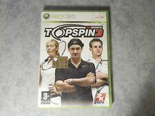 TOP SPIN 3 - TENNIS - MICROSOFT XBOX 360 - PAL ITALIANO - COMPLETO - COME NUOVO