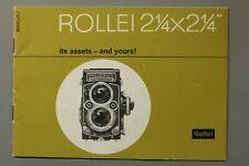 "VINTAGE BROCHURE: ROLLEI 2 1/4"" x2 1/4"" Twin-Lens Stamed: K.Y. Camera Shop (B27)"