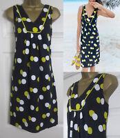 NEW Boden £50 Tarifa Summer Dress Sun Beach Tunic Shift Navy Lime Cotton 8-20