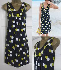 NEW EX Boden £50 Tarifa Summer Dress Sun Beach Tunic Shift Navy Lime Cotton 8-20