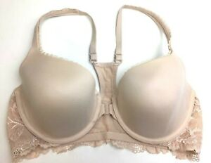Victoria Secret Lace Racerback Demi Body By Victoria 36C Front Closure Beige