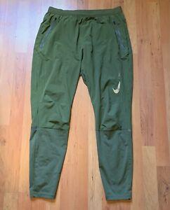 Mens Nike Flex Swift Full Length Running Pants Size M Sequoia Olive Green Khaki