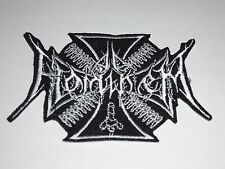 AD HOMINEM BLACK METAL IRON ON EMBROIDERED PATCH