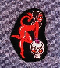Devil Girl Skull biker motorcycle patch for your vest or jacket