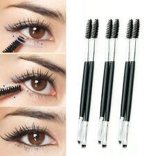 Beauty Makeup Bamboo Handle Eyebrow Brush + Eyebrow Comb Double-Ended Brushes