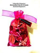 Berry Sweet! Strawberries & Cream Scented Potpourri Sachets/New Spring Potpourri