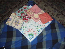 Antique Silk Linen & Lace Embroidered Handkerchief Lot Of 5 Handkerchiefs #2