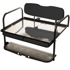 Black EZGO Marathon (Pre'94) Golf Cart ALL AMERICAN Rear Flip Back Seat Kit