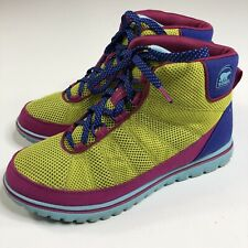 Sorel Womens Color Block Boots Lightweight Size 8.5