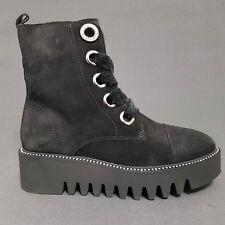 Alpe Damen Plateau Stiefel Stiefeletten edel Boots schwarz Leder Neu Gr.40