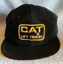 VTG Caterpillar Cat Lift Trucks Patch Snap Back Hat Black USA Made Free Shipping