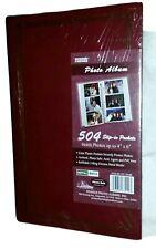 "3-Ring Pocket Burgundy Picture Album 504 Photos 4""x6"" – Memory Family Organizing"