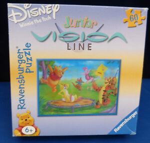 9092. Vision Line Disney Puzzle, Winnie Pooh : Trampolin springen, 60 Teile