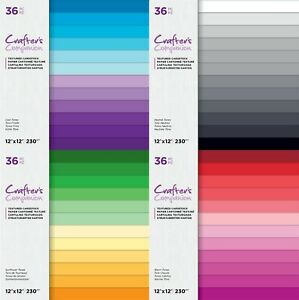 Crafters Companion - 12 x 12 Textured Cardstock