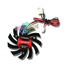 Evercool 80mm Drop In VGA Card Chipset Replacement Fan 3 screw Retail Packaging