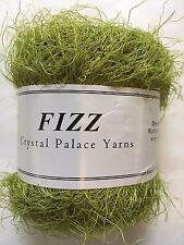 Crystal Palace Fizz Eyelash Yarn #7327 Dark Citron - Green 50g 120yd