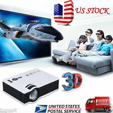 7000 Lumens HD 1080P Home Theater Projector 3D LED Portable SD HDMI VGA USB US