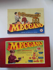 MECCANO  BOX AND INSTRUCTIONS SEE PHOTOS   BOX EMPTY //VIDE  FRENCH ORIGIN 6A