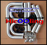 "2.5"" 64mm aluminum universal intercooler turbo Piping pipe Kit + Black hose kits"