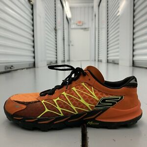 Skechers Go Bionic Trail Mens Orange Athletic Running Shoes SN53610 Mens Size 10