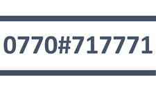 71 7771 TESCO SIM CARD GOLD EASY PLATINUM VIP MOBILE PHONE NUMBER 0770#717771