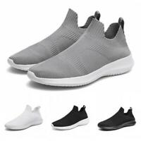 39-46 Mens Comfy Slip On Breathable Sports Mesh Shoes Casual Running Soft