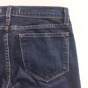 J BRAND The Deal Women's Dark Wash Skinny Jeans Zippers Size 27 Made in USA