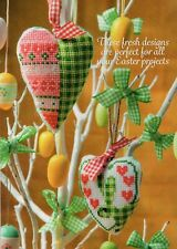 Cross stitch chart. Easter Bunny and Heart hanging decorations by Zweigart