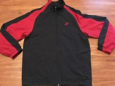 Nike Gray Tag Black Maroon Full Zip Track Jacket Size Men's Xl
