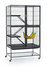 Ferret Cage Black Feisty Home Portable Shelf Large Hammock Bottom Tray w/ Stand