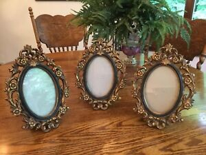 Lot of 3 Oval Freestanding Table Top Frames