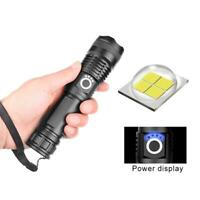 60000LM Super Bright Zoomable Lighting Home & Living Waterproof Flashlight  GA