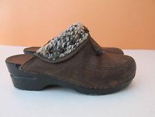 "Dansko Womens Size 38/7.5-8 Brown ""Kimba"" Suede Tassel Clog Slip-On Shoes"