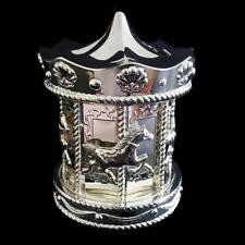 Beautiful Silver Carousel Money Box Baby Shower Christening