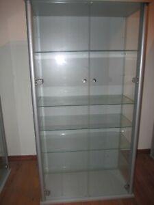 Sammlungsvitrine Glasvitrine Ausstellungsvitrine 127x68x36 cm , 5 (!) Glasböden