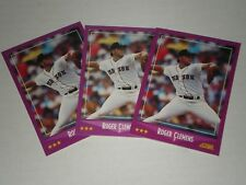 LOT OF (3) ROGER CLEMENS 1988 SCORE CARDS . BOSTON RED SOX