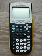 Texas Instruments TI-84 Plus Graphing Calculator Yellow School Property Edition