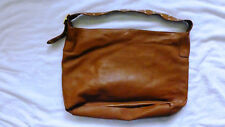 BANANA REPUBLIC LARGE BROWN LEATHER SHOULDER PURSE, EXCELLENT CONDITION