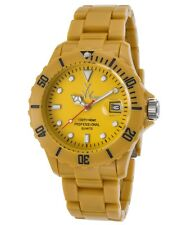 ToyWatch Unisex Yellow Dial Yellow Plastic Strap Quartz Watch FL39DY