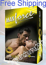 20x Man Force Extra Dotted Condoms -Banana Flavoured  Free Shipping