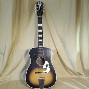 Vintage Kay NOTE acoustic guitar, parlor size. With gig bag.