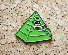Pepe the Frog - Illuminati - Enamel Pin Badge - UK Dispatch