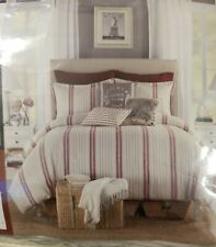 B. Smith Classic Stripe Twin Duvet  Vintage Rustic Country Cover & Standard Sham